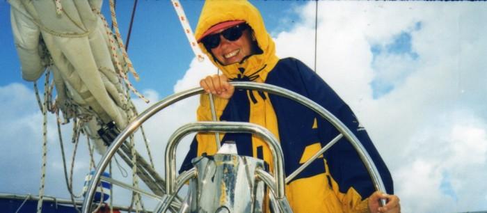 Julie at the helm.