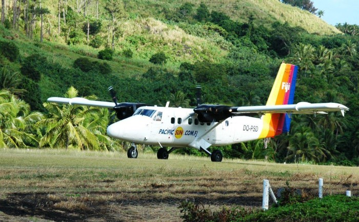 The family arrived from Suva aboard a small Air Fiji Cessna airplane.