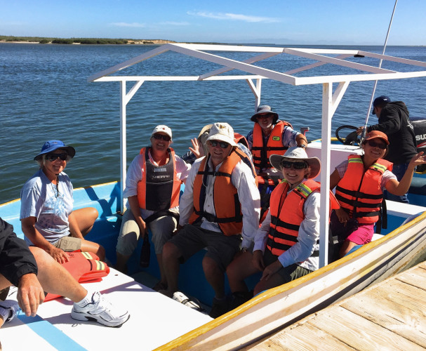 The start of our whalewatching adventure, Puerto San Carlos, Magdalena Bay, Baha