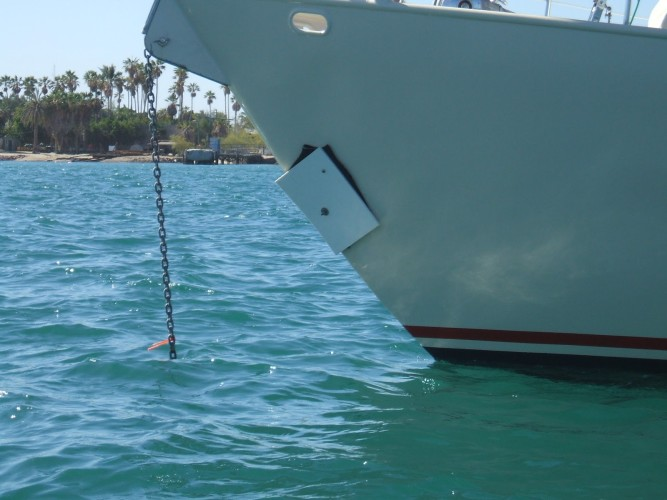 Temporary, but effective, bow repair