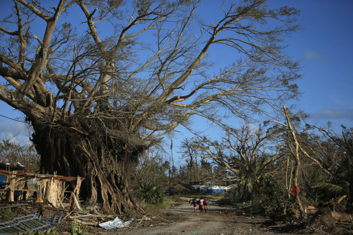 Post Cyclone Pam: where the Lenakel Market took place; March 17, 2015. Photo Credit: Edgar Su/Reuters