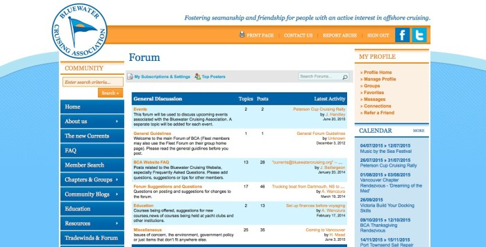 New BCA Forum - EVENTS