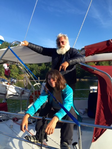 Amanda and Barry Glickman, Papa Rumba, the Fleet's real round-the-Horners.