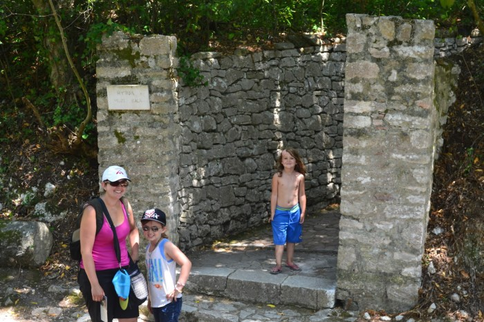 Exploring Butrint, a national historical site, the day after the accident