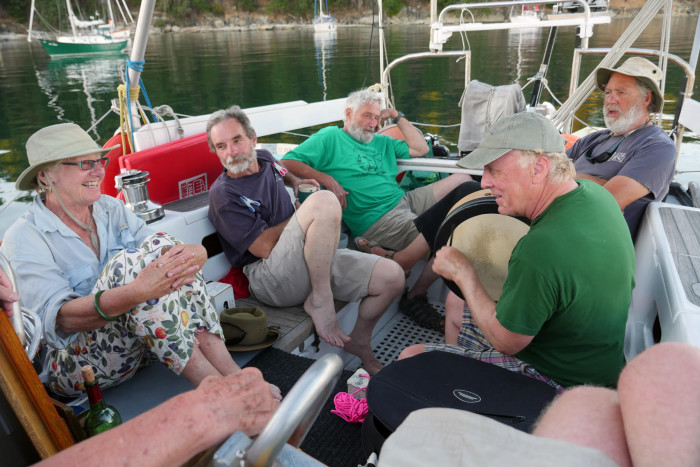 Blake Williams, Sea Fever, led the Fleet in singing sea shanties. We were a harmonious group!