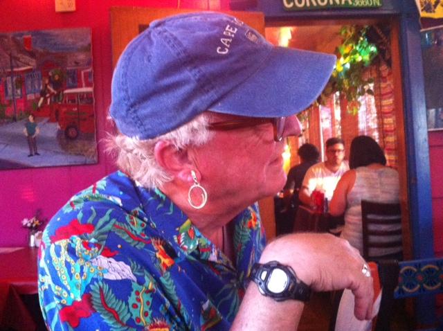 Blake Williams, Sea Fever, modelling his Cape Horn earring.