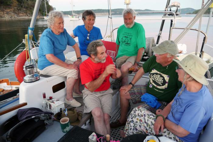 Australian circumnavigator Bob Williams, Sylph VI, regaled the Fleet with tales of adventures and misadventures.