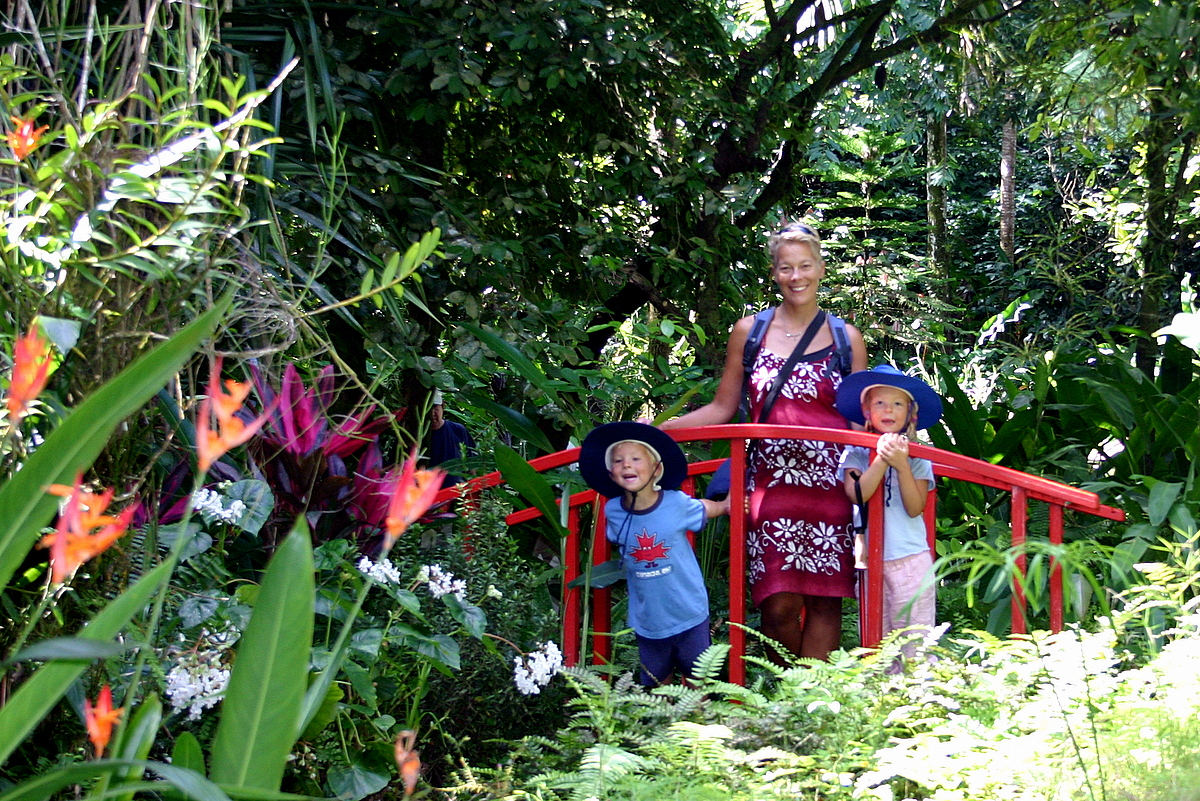 At the botanical gardens in St Lucia