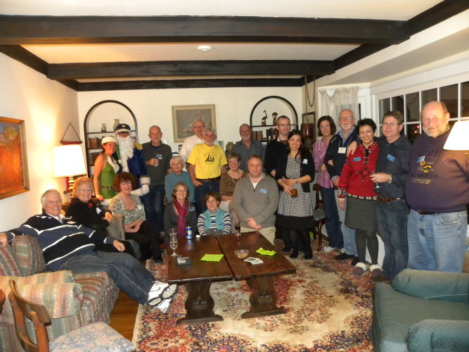 Most Vancouver Fleet members attended the December potluck dinner at the McLean's