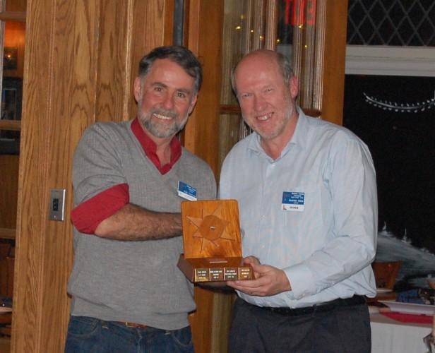 Kirk Patterson, winner of the Doug Mitchell Memorial Singlehander's Award