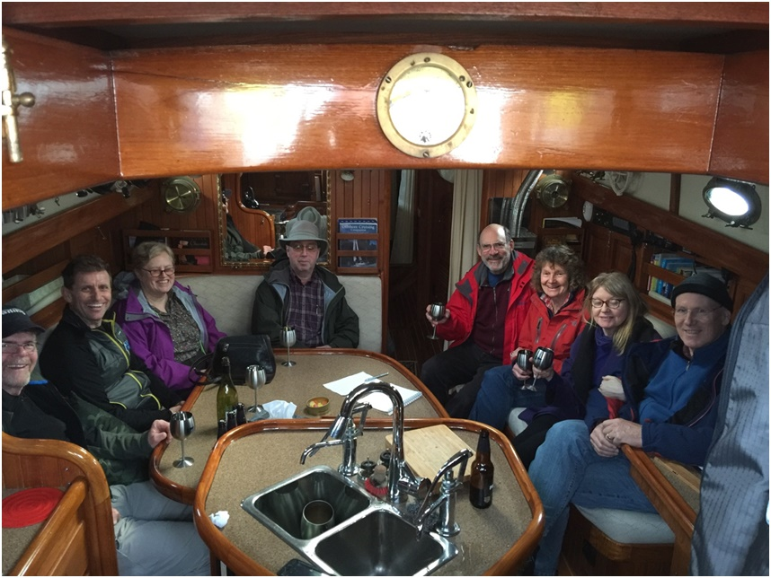 Some of the VI Fleet aboard Moonshadow VI on Saturday, February 27th.