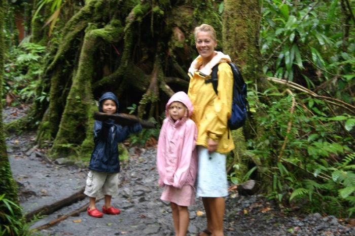 Walking to the Waterfall through the Dominican Rainforest