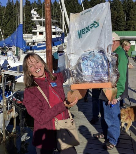 Carol Gillstrom with her winning vessel